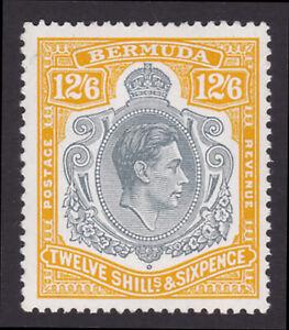Bermuda. SG 120c, 12/6 grey & pale orange, ordinary paper. Fine mounted mint.