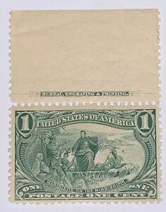 Travelstamps: 1898 US Stamps Scott# 285 mint og hinged Trans-Mississippi, 1 cent