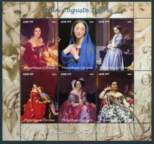 Mozambique: 2004 Jean Auguste Ingres Paintings Mini-Sheet (1729) MNH