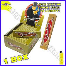 Cartine Smoking GOLD Lunghe King Size Slim Gold  box da 50 Libretti