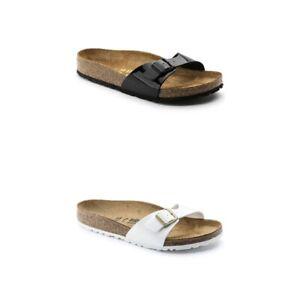 Birkenstock Madrid Damen Sandalen | Sandaletten | Schlappen | Birko-Flor, Lack -