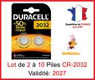 Piles CR-2032  DURACELL / Autre modèle: CR-1220-1616-1620-2016-2025-2430-2450