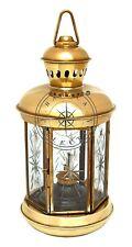 "10"" Nautical Polished Brass Oil Lamp Ship Lantern Vintage Maritime Cargo Light"