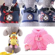 Cut Pet Small Dog Puppy Harness And Leash Set Vest Chest Strap S-XL for S pets