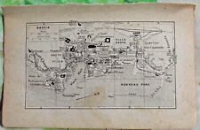 1930 the guide of the old town Bastia Department 20 old map art print