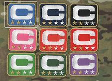 NFL TEAM LEADER JERSEY CAPTAINS PATCH TWO-STAR 2-⭐ROYAL BLUE CAPTAINS PATCH