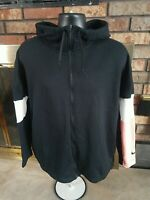 Nike Dri Fit Black Pink White Hoodie Hooded Sweatshirt AO1152-011 Womens Size XL