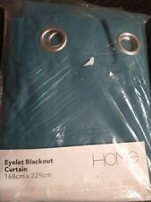 Argos Blackout green Lined Eyelet Curtain 168x299 cm new