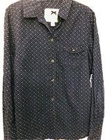 Authentic BANANA REPUBLIC Blue Button Up Long Sleeve Lightweight Collared Shirt