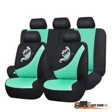 Car Seat Covers Full Set Butterfly Embroidery Fresh Green Dog Pet Front Rear