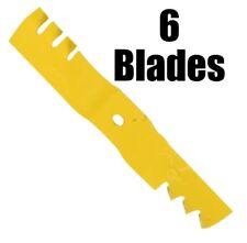 (6) Cub Cadet OEM HEAVY DUTY Extreme Hi-Lift Blades 942-04417-X 02005017-X