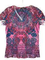 Apt. 9 Embelished Studded Short Sleeve Shirt Top Women's Size Medium M