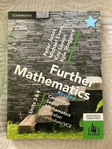 VCE Cambridge Further Maths Revised Units 3 and 4 Textbook