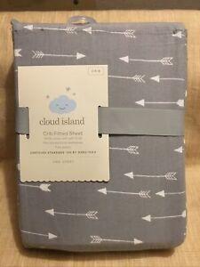 NEW Cloud Island Fitted Crib Sheet -Gray - nursery bedding