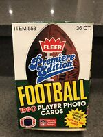 1990 Fleer Premiere Edition Football Cards Box, Unopened, 36 Packs