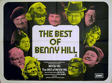 BEST OF BENNY HILL 1974 Benny Hill, Patricia Hayes, Henry McGee UK QUAD POSTER