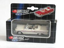 1:43 NEW-RAY 1957 PONTIAC BONNEVILLE - White/Red Flash - Mint Boxed