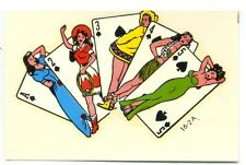 vtg impko decal pin up girl playing cards las vegas ace hot rod motorcycle