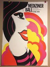 POP ART PLAKAT MÜNCHEN FASCHING MEDIZINER BALL 70ER JAHRE HAUS DER KUNST 1973