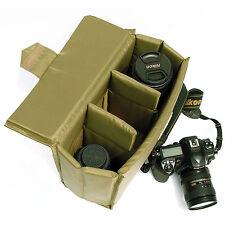 Waterproof DSLR SLR Camera Bag Case Cover Insert Padded Partition Folding Bag
