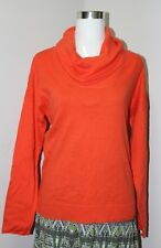 New jcp Women's Long Sleeve Cashmere Blend Sweater - Orange - Small