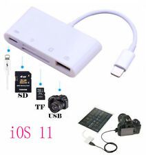 iOS 11 Camera Connection Kit USB TF SD Card Reader for iPad iPhone X 6 7 8 Plus