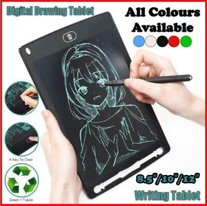 "8.5""/10''/12"" Writing Tablet LCD Drawing Board Pad Digital NotepadKids E Writer"
