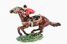 Ciel Collectables Jockey Horse trinket Box. Hand Made with Swarovski Crystal