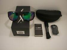 Brand New Authentic Wiley X Vallus #ACVLS07 Matte Black/Polarized Emerald Mirror