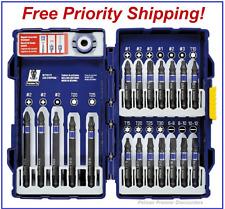 IRWIN Tools IMPACT Performance Series Fastener Power Bits, 20-Piece Set w/ Case