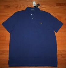 NWT Mens Polo Ralph Lauren Classic Fit Polo Shirt Pony Logo Cobalt Blue $79 *7Z