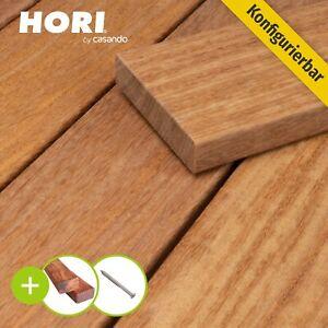 Terrassendiele Cumaru Glatt massiv Komplettset UK Holz Diele Terrassenholz 21x90
