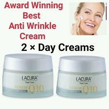 2 ×  Best Anti-wrinkle**Award winning** Q10 50ml LACURA  Day Cream