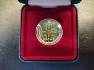 """2 euro Belgique 2014 commémorative """"croix rouge"""" BU NEUVE dans coffret sous caps"""