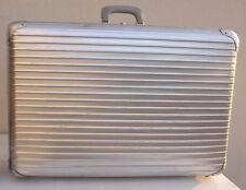 Mid century German 1950 Rimowa topas suitcase aluminum bauhaus pop art deco