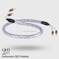 1 x 2.0m QED GENESIS SILVER SPIRAL Speaker Cable AIRLOC Forte Plugs Terminated