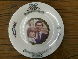 H.R.H Prince Charles & Lady Diana Spencer July 1981 Marriage Commemorate Plate
