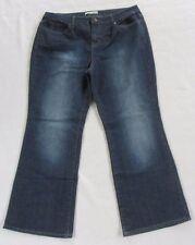 Fashion Bug Women's Stretch Denim Boot Cut Dark Wash Jeans - Size 16 Petite