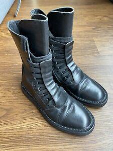 Ann Demeulemeester Combat Boots 37 Lace Up Zip