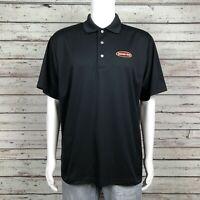 PGA Tour AirFlux Golf Polo Shirt LARGE Men's Jason's Deli Employee Black