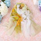 Fashion Women girl Scarf Shawl chiffon Flower Soft Silk Scarves Wraps Stole #J