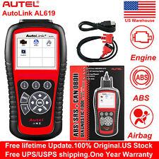 Autel Autolink AL619 Code Reader Auto Diagnostic Scan Tool SRS ABS Airbag Reset