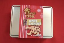 Jumbo Cashews 16 oz Roasted Salted in a Holiday Tin