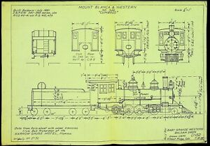 Draftsman's Drawing of D&RGW #346 C-19 from 1955