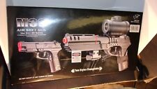 Double Eagle Full Size Robocop M39 Airsoft Spring Pistol W/red Dot Scope & Laser