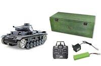 RC Panzer Panzer III Schuss Rauch Sound  Metallgetriebe Metallketten NEU 23046