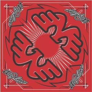 "Waylon Jennings Black Flying W Logo Red Bandana 21.5"" x 21.5"" (mask)"