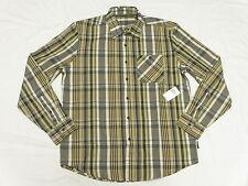 $64 NWT Mens Sean John Button Down Shirt LS Plaid Woven Urban Kelp Size XL N275