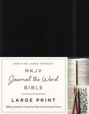 NKJV, Journal the Word Bible, Large Print, Hardcover, Black, Red Letter Edition: