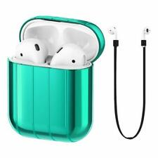 FRTMA Compatible Apple Airpods Protective Case Hard PC Shockproof Emerald Green